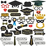 Best Choice Products 38-Piece Class of 2018 and 2019 Graduation Party Supplies Photo Booth Decoration Prop Set