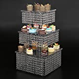 3 Tier Round crystal Wedding Dessert Server Cake Stand For Birthday Wedding Party Freestanding Style Cupcake Tower 160 Cupcakes Wedding Stand DIY Project