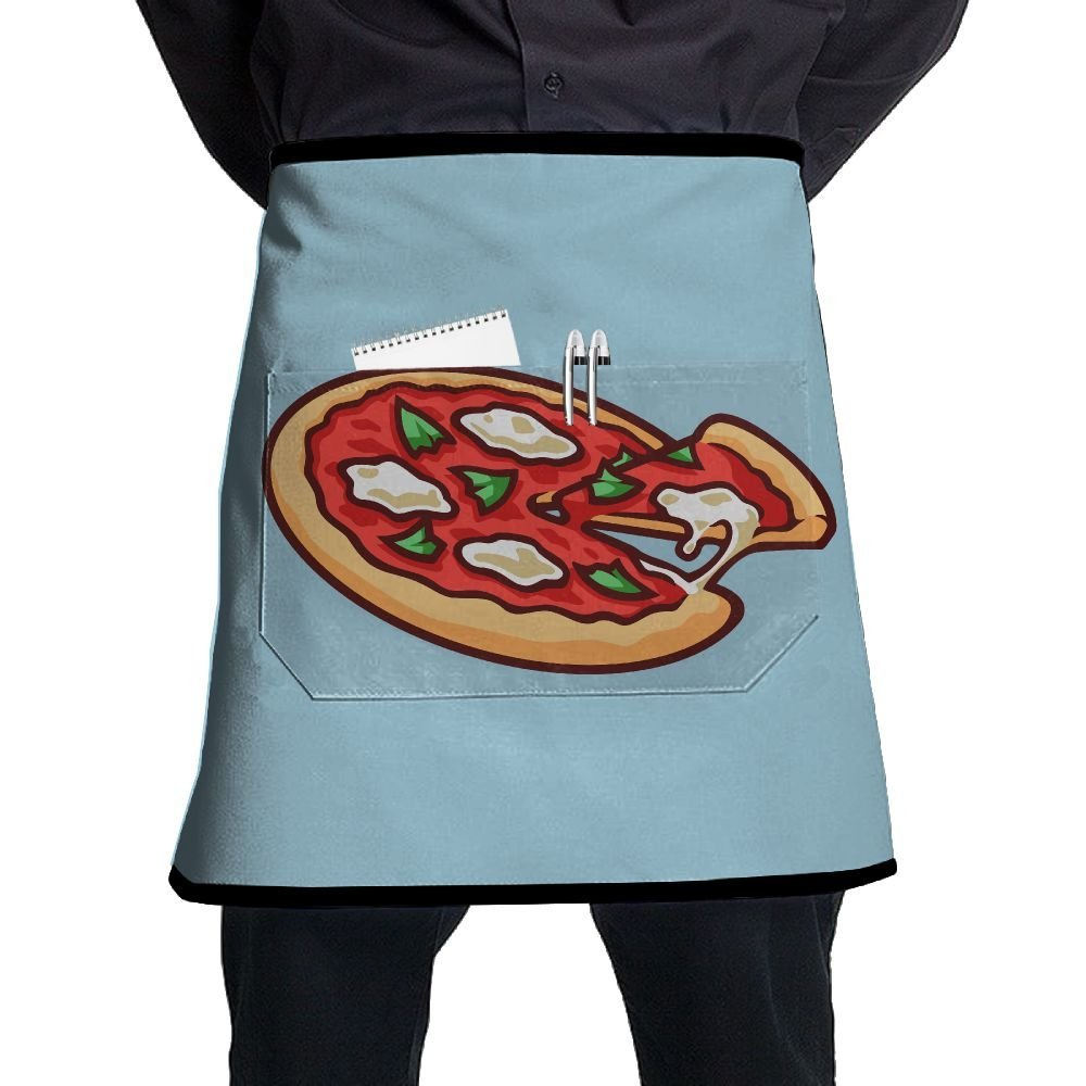 nicokeeシェフエプロンDelicious Pizzaウエストタイ半分Bistroエプロンホームキッチンの料理   B07G25VB7Z