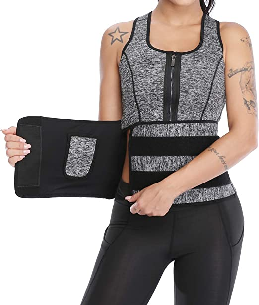 MISS MOLY Womens Slimming Neoprene Vest Waist Cincher Body Shapers for Weight Loss