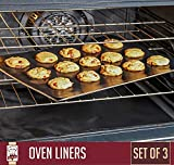 Home Kitchen Accessories Best Deals - Large Non-Stick Oven Liners - Set of 3 - Master Chef Quality Kitchen Accessories For Home Cooks - Keeps Ovens Clean - Heavy Duty, Easy To Use, Versatile