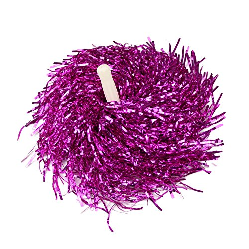 MXXGMYJ Hot Pink Plastic Cheerleader Cheerleading Pom Poms Party Costume Accessory Set Ball Dance Fancy Dress Night Party Sports Pompoms Cheer 1pair