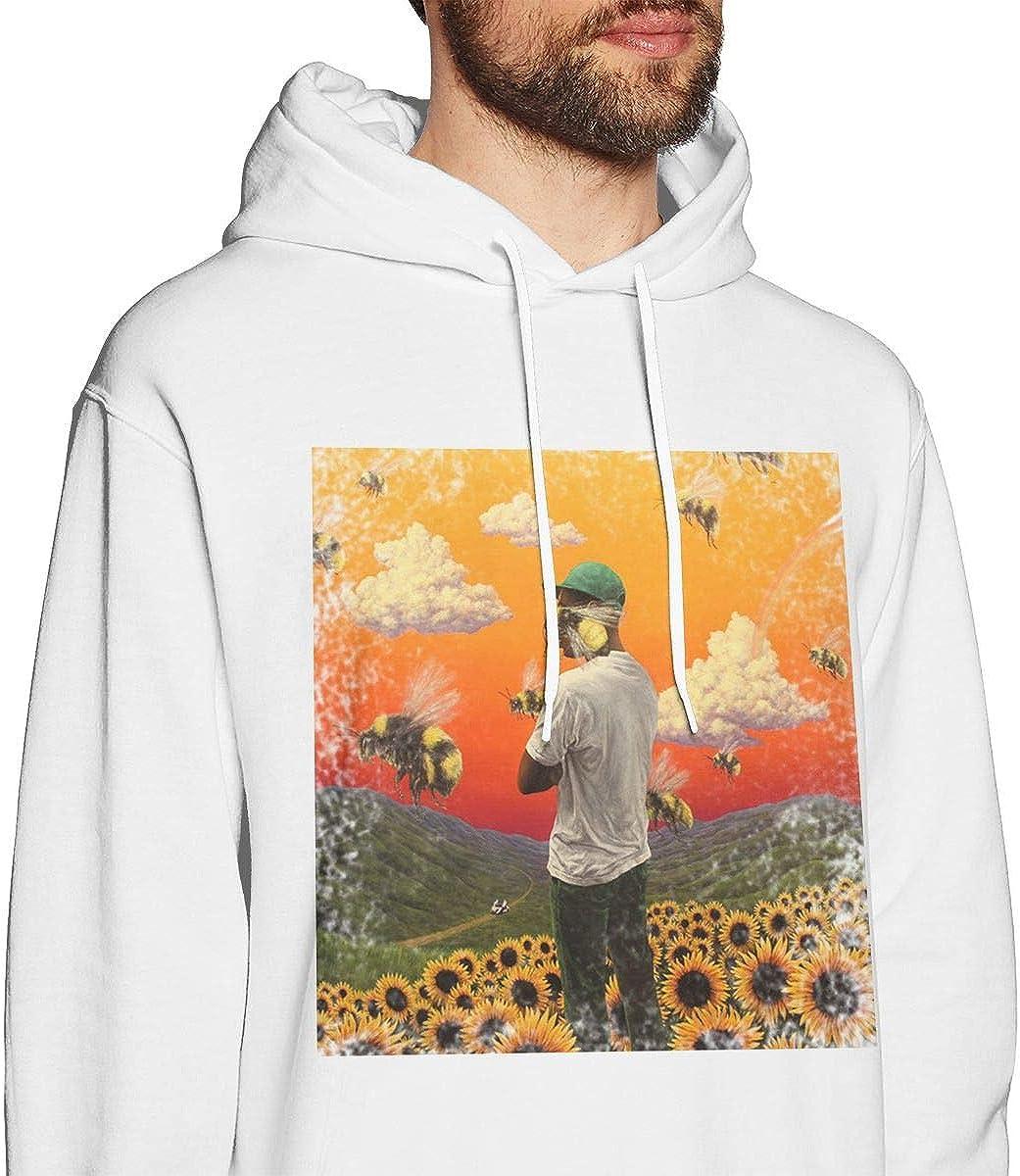 Pekivide Man Tyler Flower Boy Comfortable White Hoodie Sweatshirt Jacket Pullover Tops