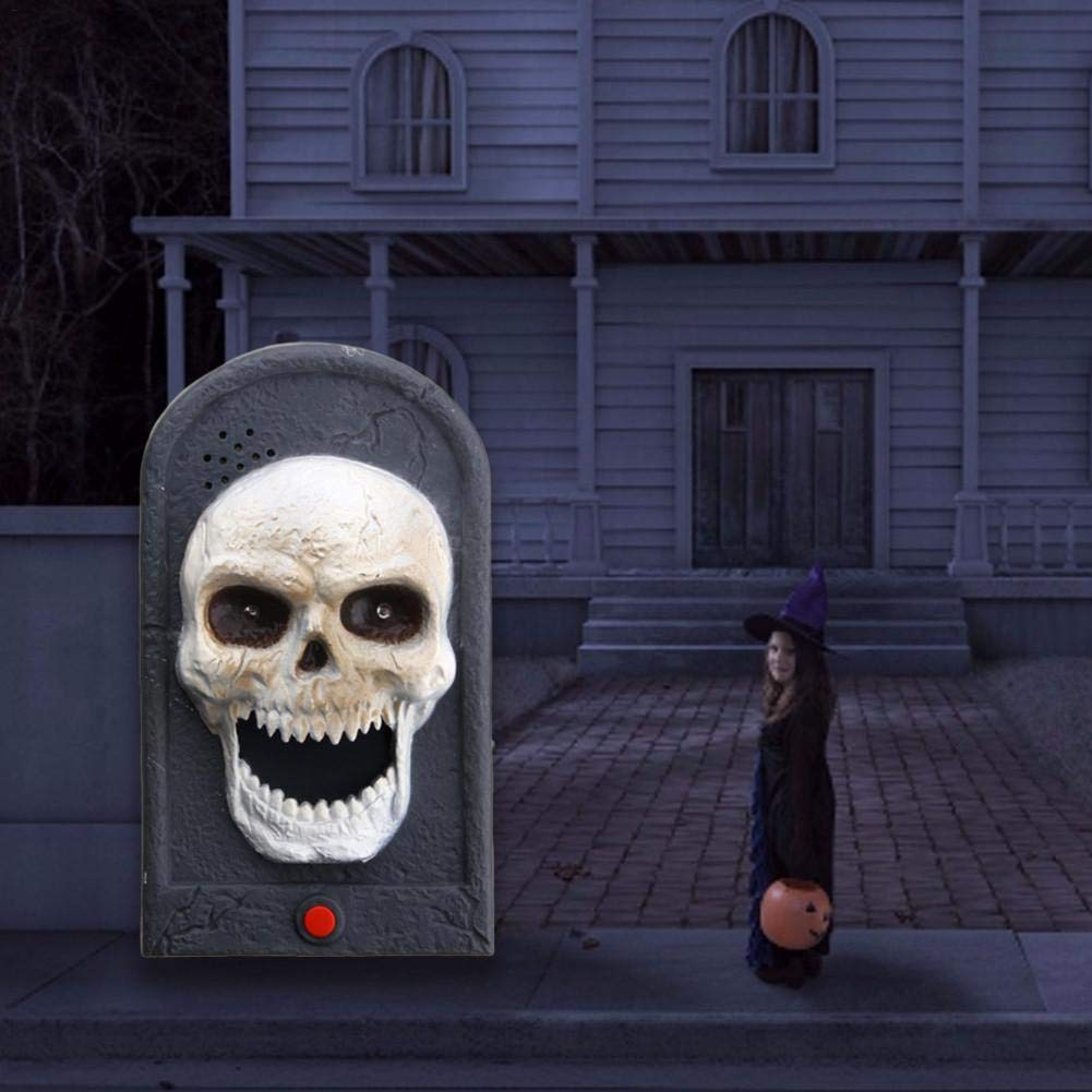 Pleasay Halloween Decorative LED Light Doorbell with Spooky Sounds Haunted House Prop Lamp Halloween Party Prop Decoration Benefit by Pleasay (Image #4)