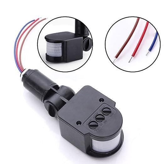 Rokoo Interruptor automático infrarrojo de la lámpara de pared del detector de sensor de movimiento de 110-220V PIR