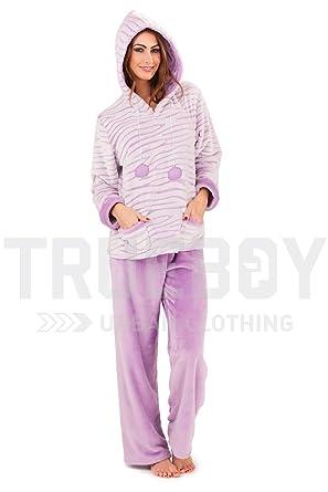adde0e7f6 Loungeable Womens Sherpa Fleece Pyjamas Lilac - Large at Amazon ...