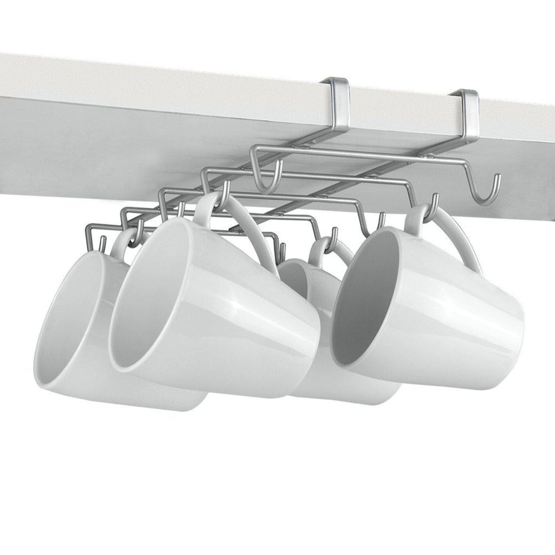 Top Home Solutions® con verniciatura a polvere argento ripiano inferiore–Porta tazza, 10tazze