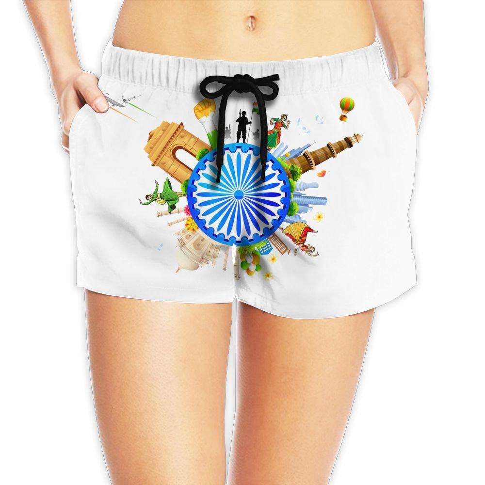 Travel Round The World Women Fashion Sexy Quick Dry Lightweight Hot Pants Waist Beach Shorts Swimming Trunks