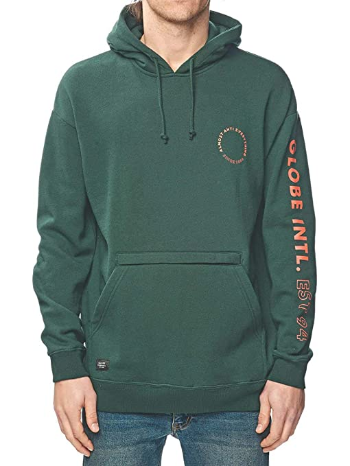 Globe Nations Hoodie - Sudadera, Hombre, Verde(Bottle Green)