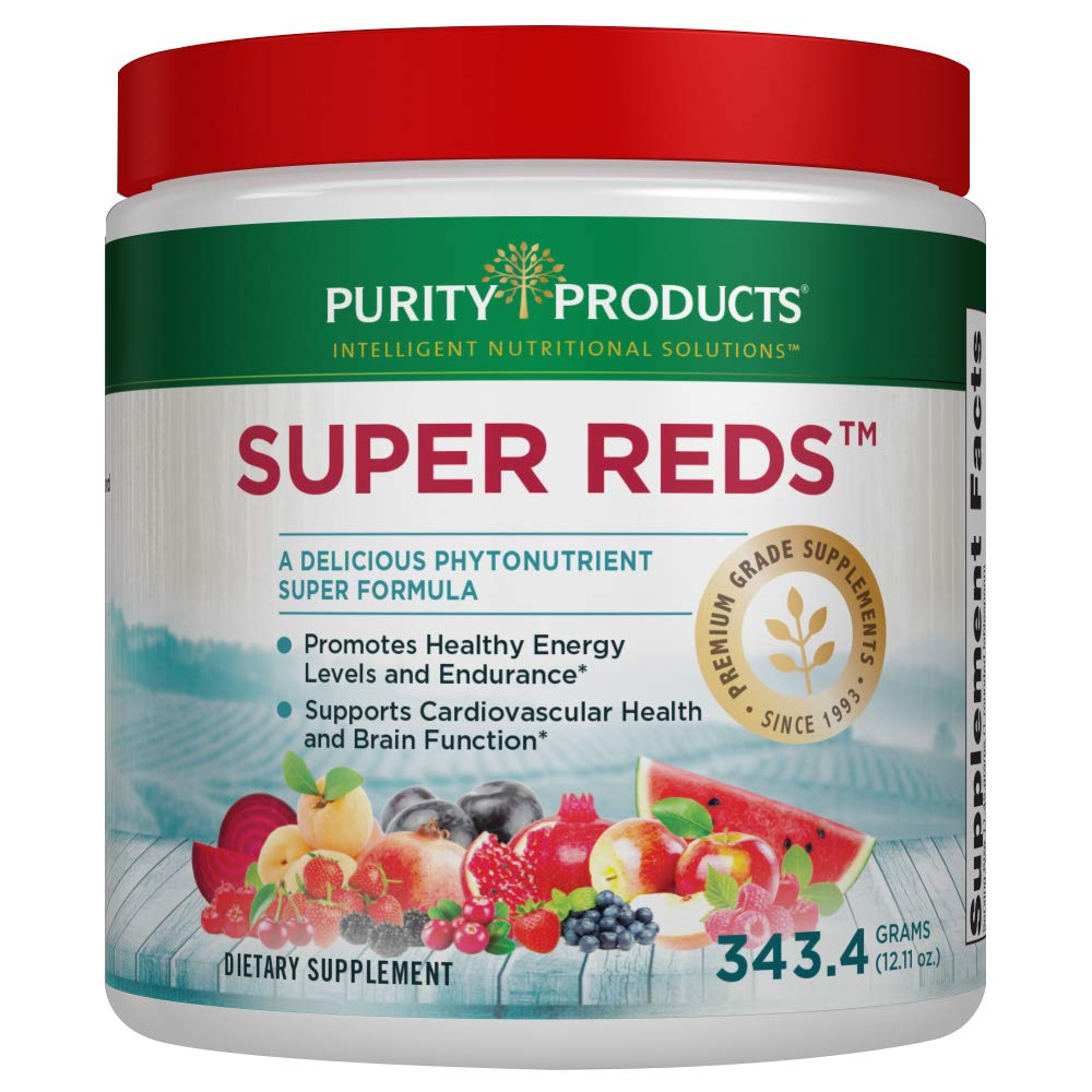 Purity Products - Super RedsTM Healthy Energy Phytonutrient Superfood Drink Mix   12.11 Oz - 30 Day Supply by Purity Products