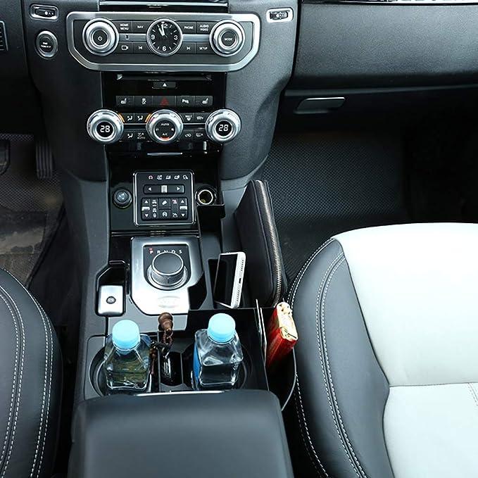 Bo/îte de rangement multifonction pour console centrale de voiture DIYUCAR noir pour Discovery 4 LR4 2013-2016 avec accessoires pour conduite /à gauche