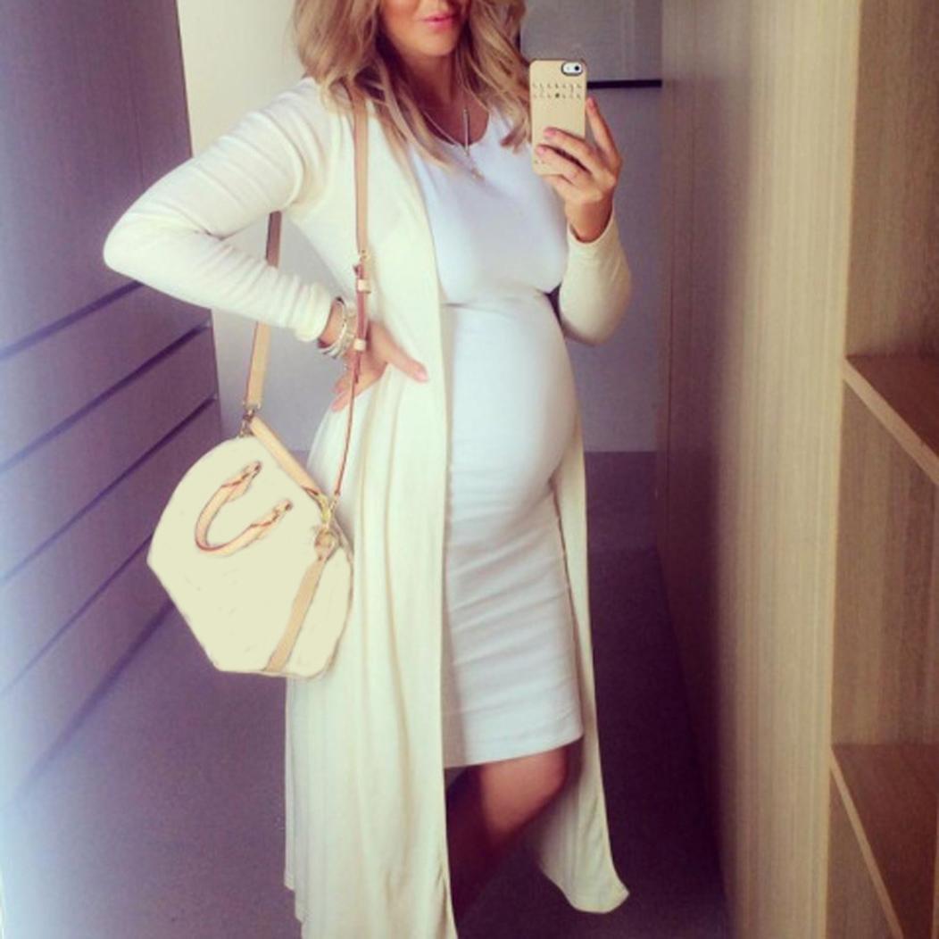 b858793f9 PAOLIAN Mujer Verano Sólido Casual Premamá Chaleco Embarazada Vestidos de Maternidad  Cómodo Cuello Redondo Sin Manga Rodilla-Longitud Fotográficas de ...