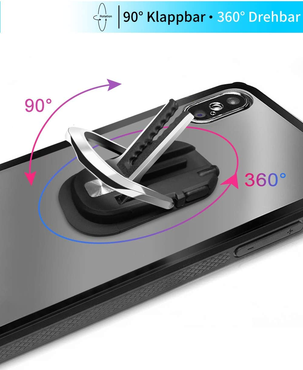 Foncent Anillo Soporte M/óvil Titular del Tel/éfono,Anillo Soporte para Movil 360/° rotaci/ón,Soporte Tel/éfono para iPhone Tablet y Smartphone Universal 2 Piezas