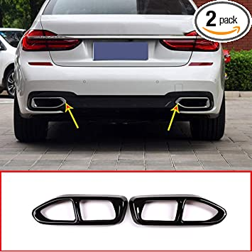 Rear Exhaust Muffler Tail Pipe Cover 2pcs For BMW 7 Series G11 G12 2016-2019