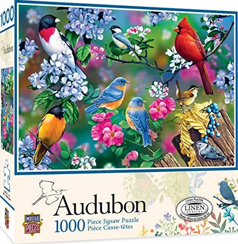 MasterPieces Audubon Linen Jigsaw Puzzle, Songbird Collage, 1000 Pieces