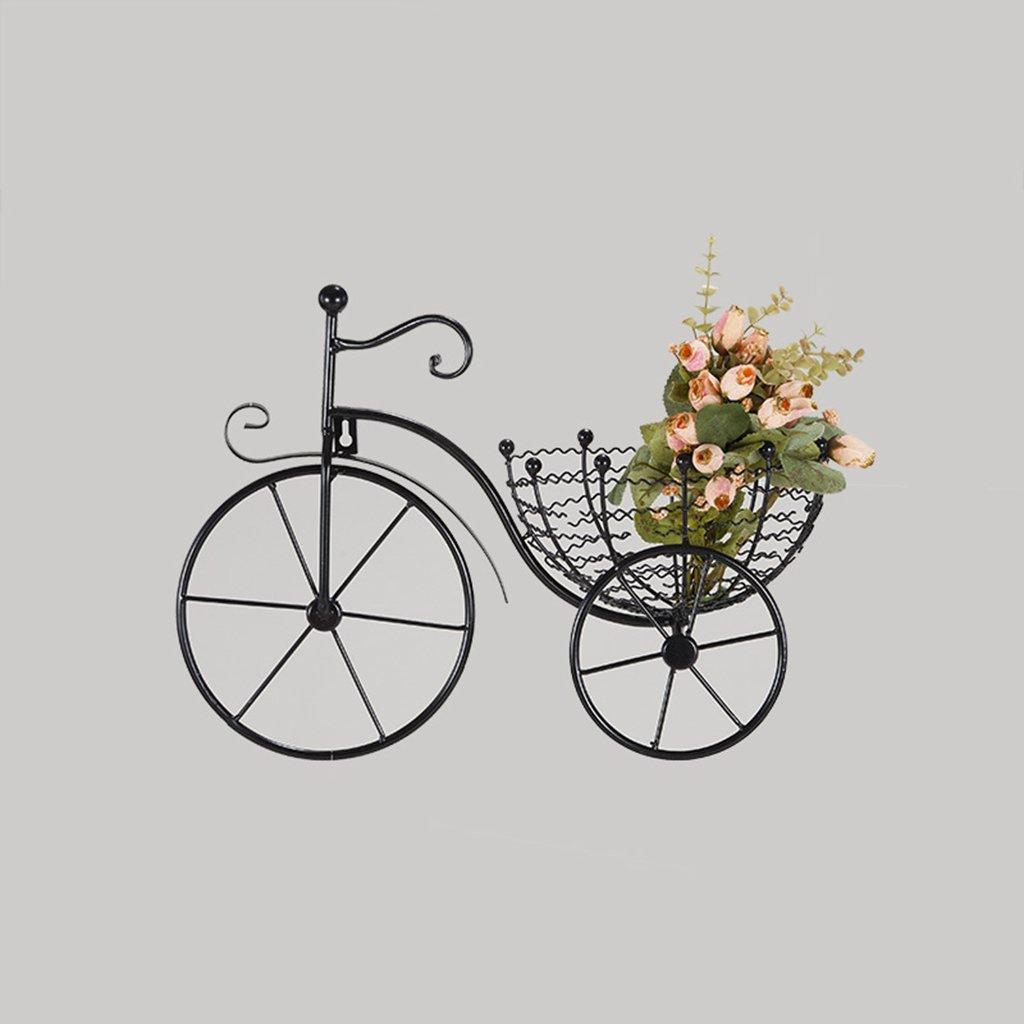 CSQ Wall-Mounted Bicycle Shelf, Iron Art Creative Design Small Potted Plants Chlorophytum Bedroom Living Room Restaurant Decoration 4333CM Flower Shelf