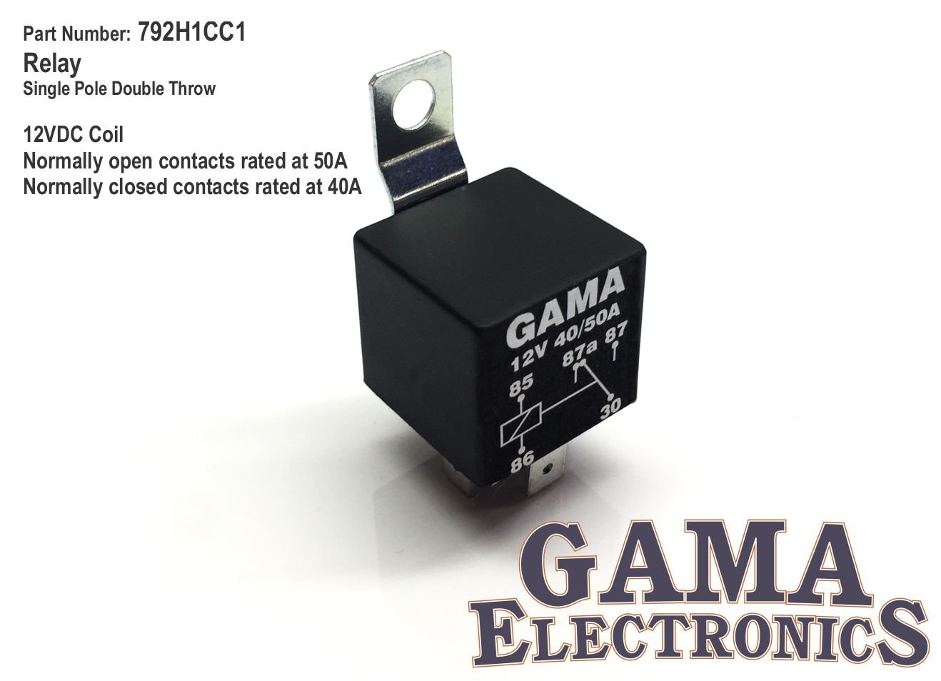 Amazon.com: High Power 40 - 50 Amp Relay Single Pole, Double Throw ...