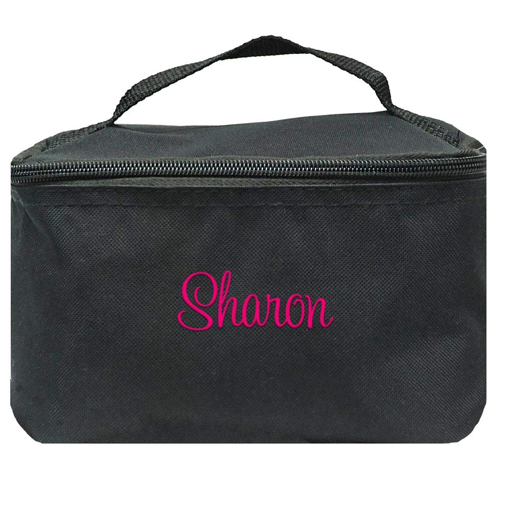Personalized Small Cosmetic Makup Bags for the Girl on the Go (Black)