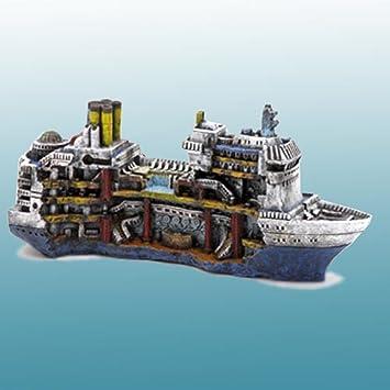 Amazoncom Sunken Cruise Ship Aquarium Ornament Aquarium Decor - Sunken cruise ships