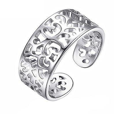 Kleine Zehenringe Frauen Silber überzogene verstellbare offene
