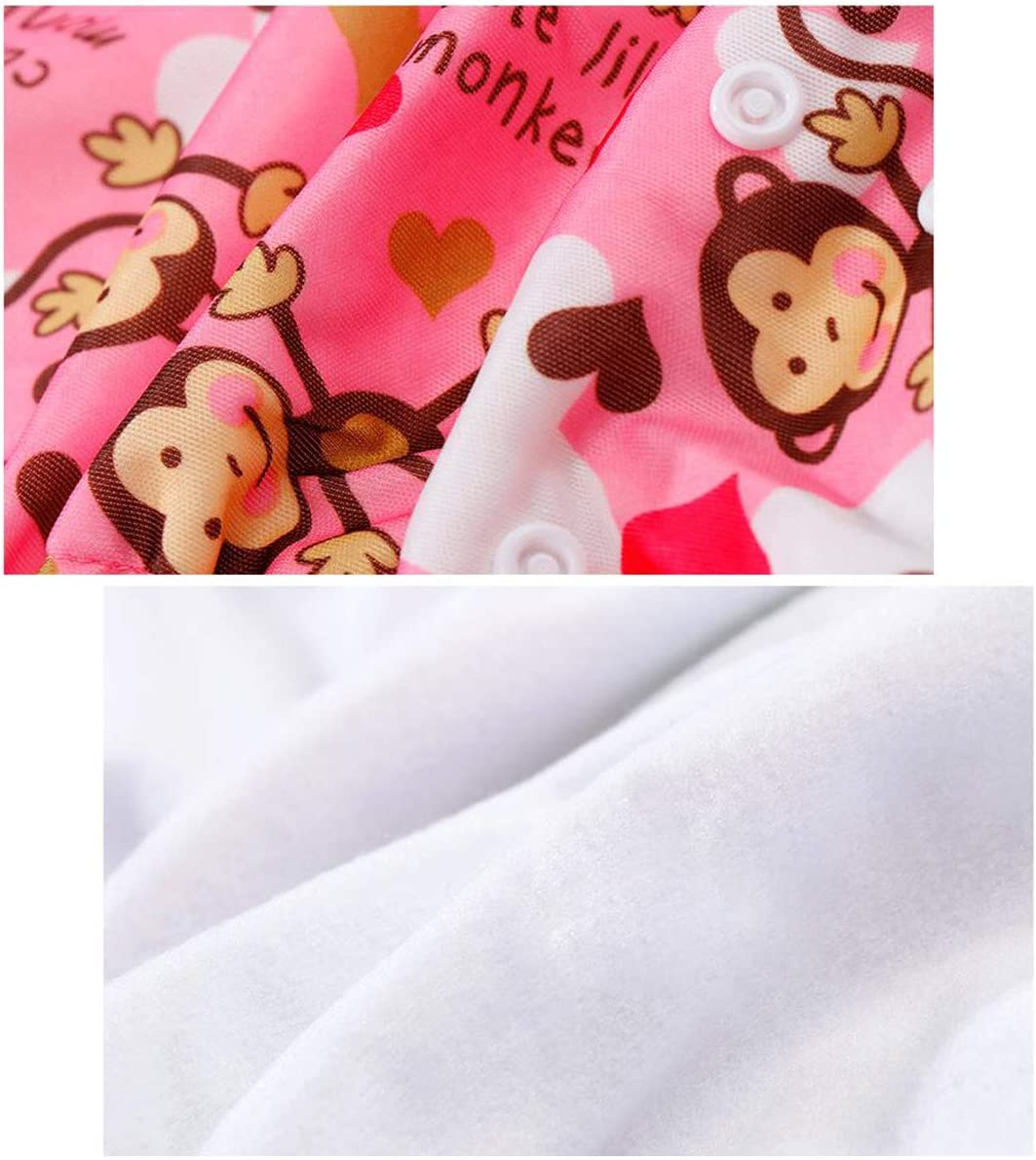 DEBAIJIA Baby Diaper Pants Cloth Cover Cartoon Printing Cute Casual Adjustable Nappies Learning Pants Reusable Dual Opening Washable Breathable Waterproof for 0-3 Years Newborn Toddler Infant 2 PCS
