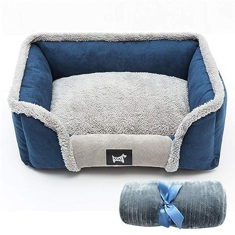 Steaean Cama para mascotas perrera invierno cálido todo extraíble y lavable Teddy perros grandes y medianos
