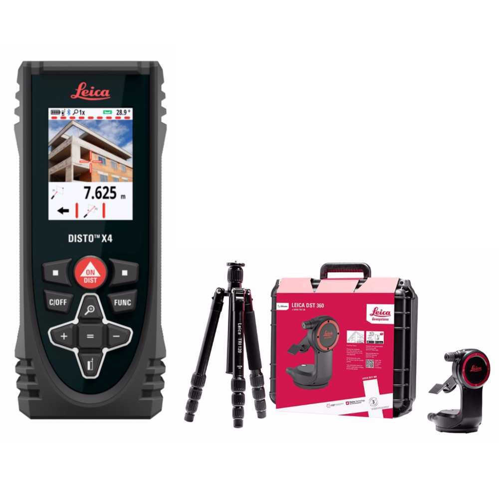 Leica 855138 Disto X4 Laser Distance Meter With 848783 DST360 Point to Point Accessory