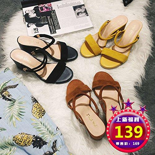 Un Deux Une Avec Femme Et unie Cool Sandales Pantoufles Couleur SHOESHAOGE YxFwqnC11