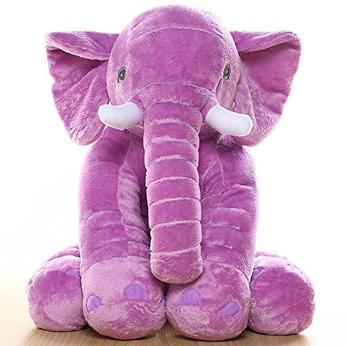 MorisMos Stuffed Elephant Plush Toy Purple 24 Inch (Purple Elephant)