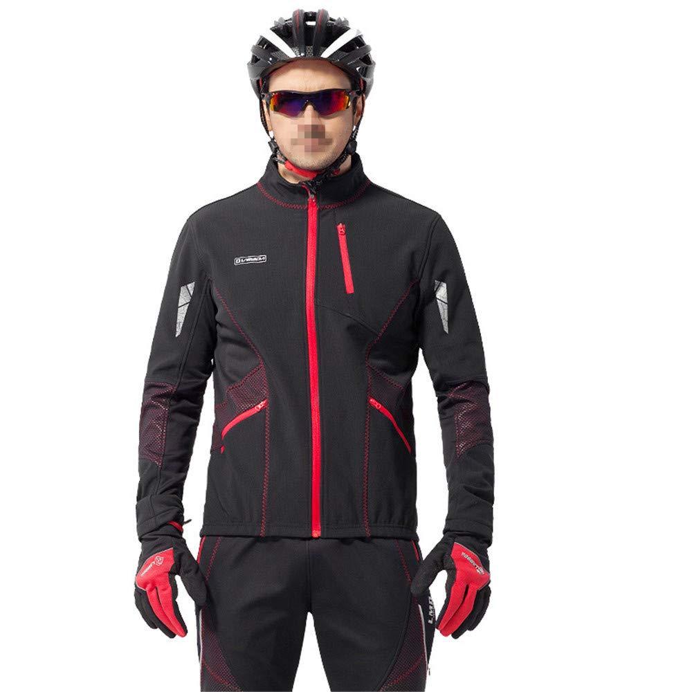 Fahrradbekleidung Set Fahrradbekleidung Sets Anzug Männer Full Zip Langarm Radtrikot Jacke Straße Mountainbike Sportbekleidung Laufbekleidung Atmungsaktiv Schnell Trocknend Fahrradhose ( Size : XL )