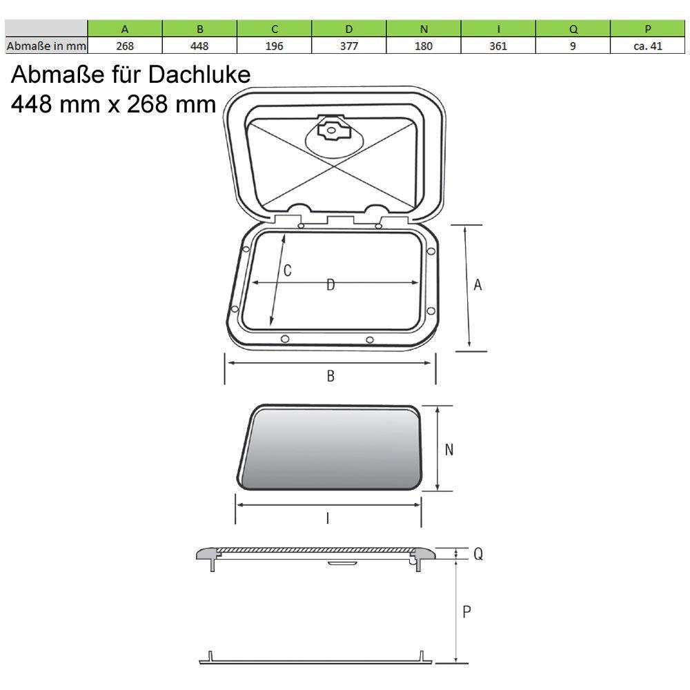 wellenshop Decksluke Bootsluke Aufstelldach Dachfenster