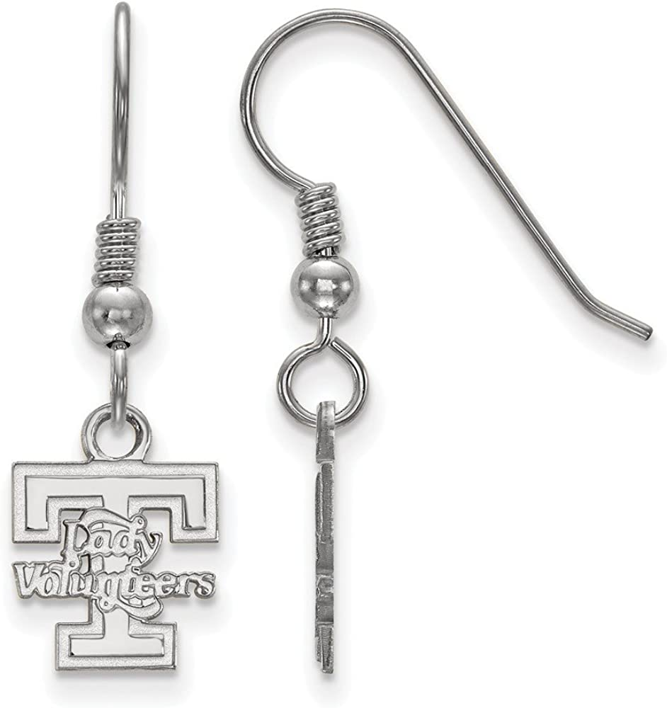 Collegiate University of Tennessee Sterling Silver LogoArt University of Tennessee XS Dangle Earrings