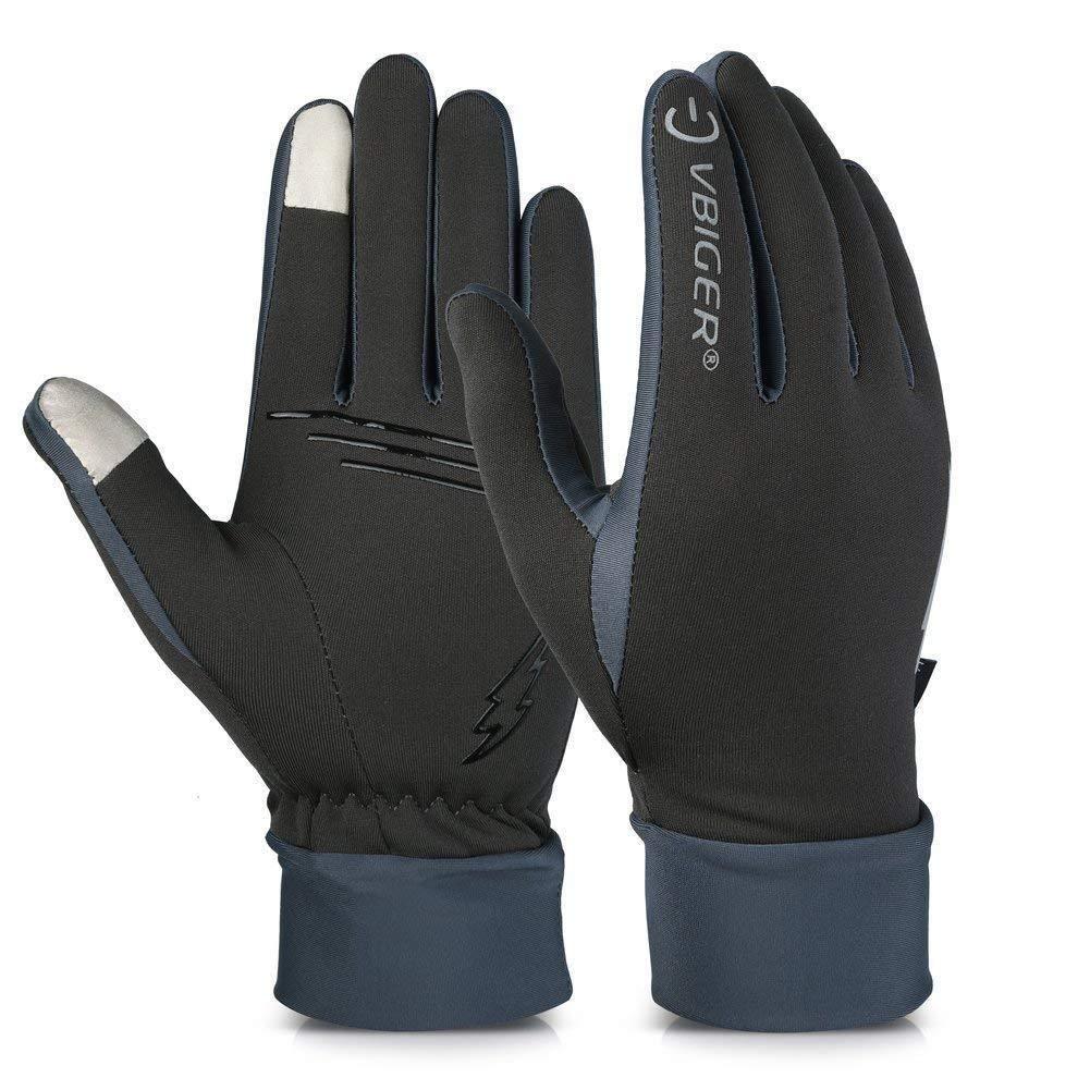Vbiger schwarzen Handschuhen der Handhandschuhe trägt, L,  Graue-1