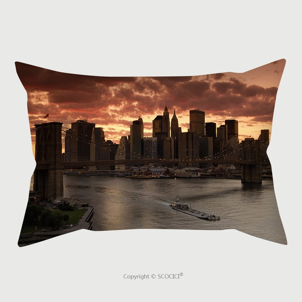 Custom Satin Pillowcase Protector New York At Sunset_2089494 Pillow Case Covers Decorative by chaoran