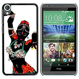 PC/Aluminum Funda Carcasa protectora para HTC Desire 820 Indian Dance Woman Costume Attire Art / JUSTGO PHONE PROTECTOR