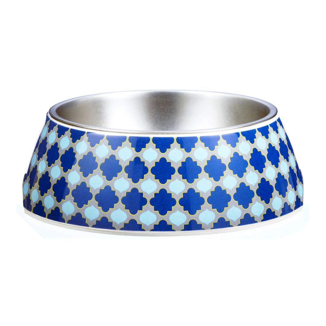 Gummi Pets pet Bowl in Marrakesh Mgoldcco-Inspired Design by The Design Gift Shop Size  L color  bluee