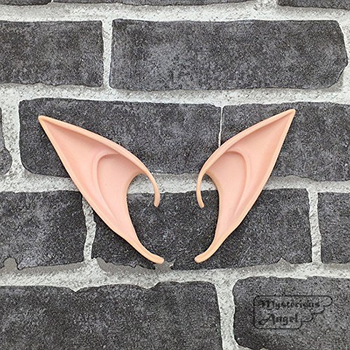 Embiofuels(TM) Mysterious Angel Elf Ears fairy Cosplay Accessories LARP Halloween Party Latex Soft Pointed Prosthetic False ears [ 12cm ] ()
