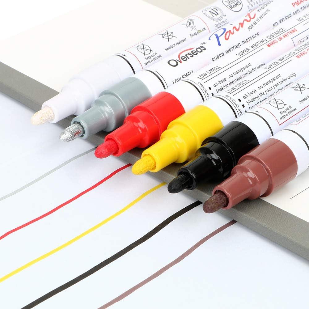 Rotulador de 6 Colores para el Cuidado de la Pintura de los neum/áticos del Coche