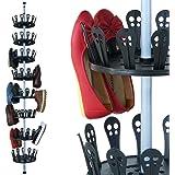 XXL Deuba® Schuhregal ✔Platz für 96 Schuhe ✔höhenverstellbar 80-280cm ✔8 drehbare Schuhebenen - Schuhkarussell Schuhständer Schuhschrank Teleskopregal