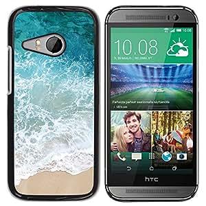 TopCaseStore / la caja del caucho duro de la cubierta de protección de la piel - Sun Summer Sand Happy Nature - HTC ONE MINI 2 / M8 MINI