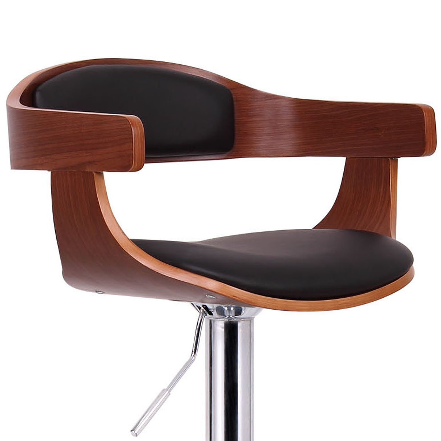 Amazon.com Baxton Studio Garr Walnut and Black Modern Bar Stool Kitchen u0026 Dining  sc 1 st  Amazon.com & Amazon.com: Baxton Studio Garr Walnut and Black Modern Bar Stool ... islam-shia.org