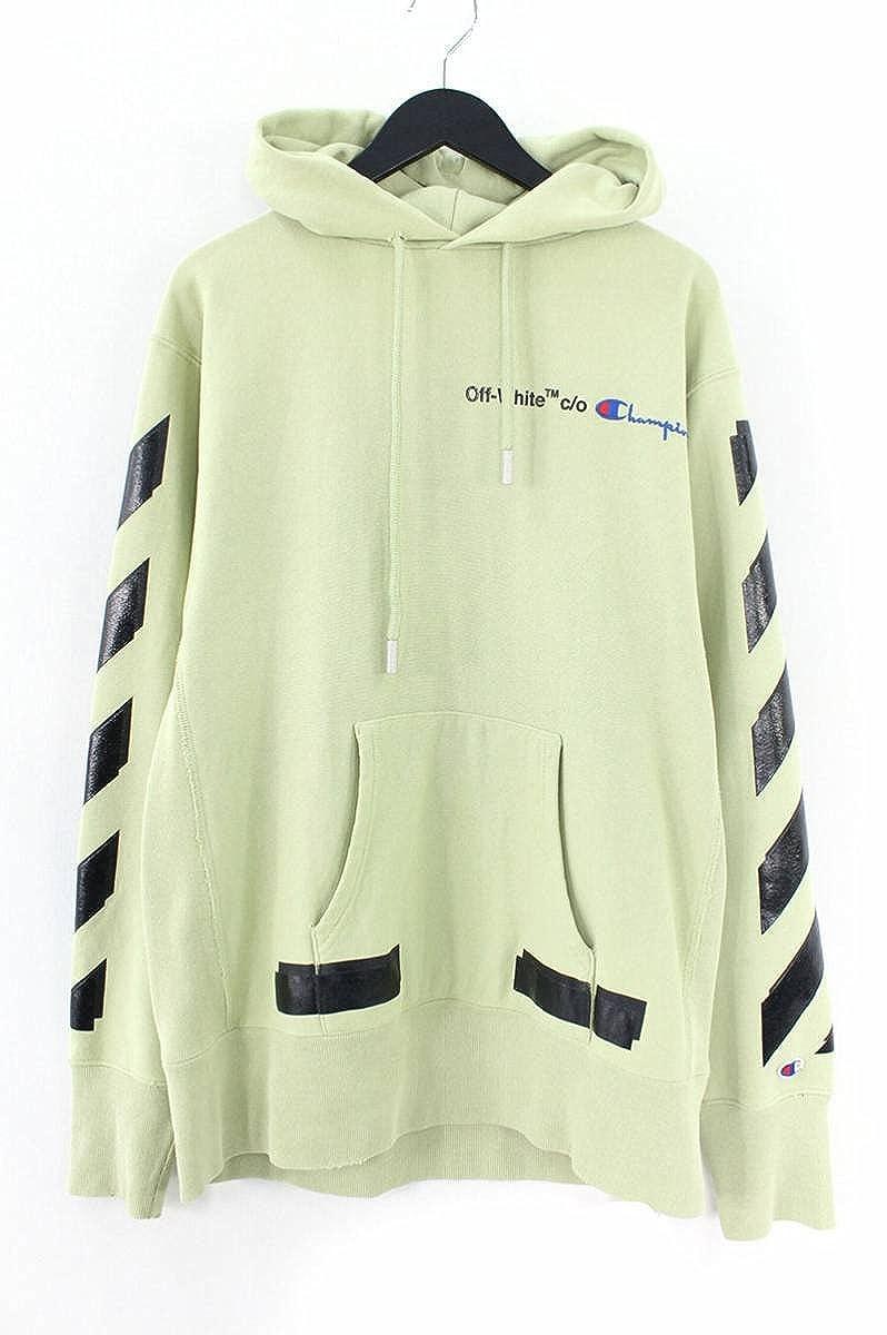 (オフホワイト) OFF-WHITE 【18SS】【CHAMPION HOODIE】ロゴ刺繍バックアロープリントパーカー(M/グリーン) 中古 B07FT8F2KW