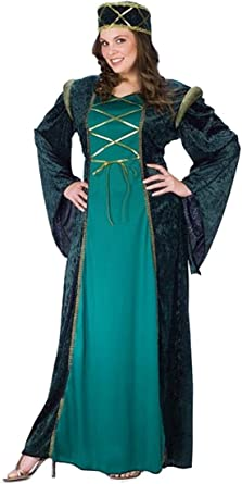 Brand New Medieval Renaissance Emerald Lady in Waiting Dress Adult Costume