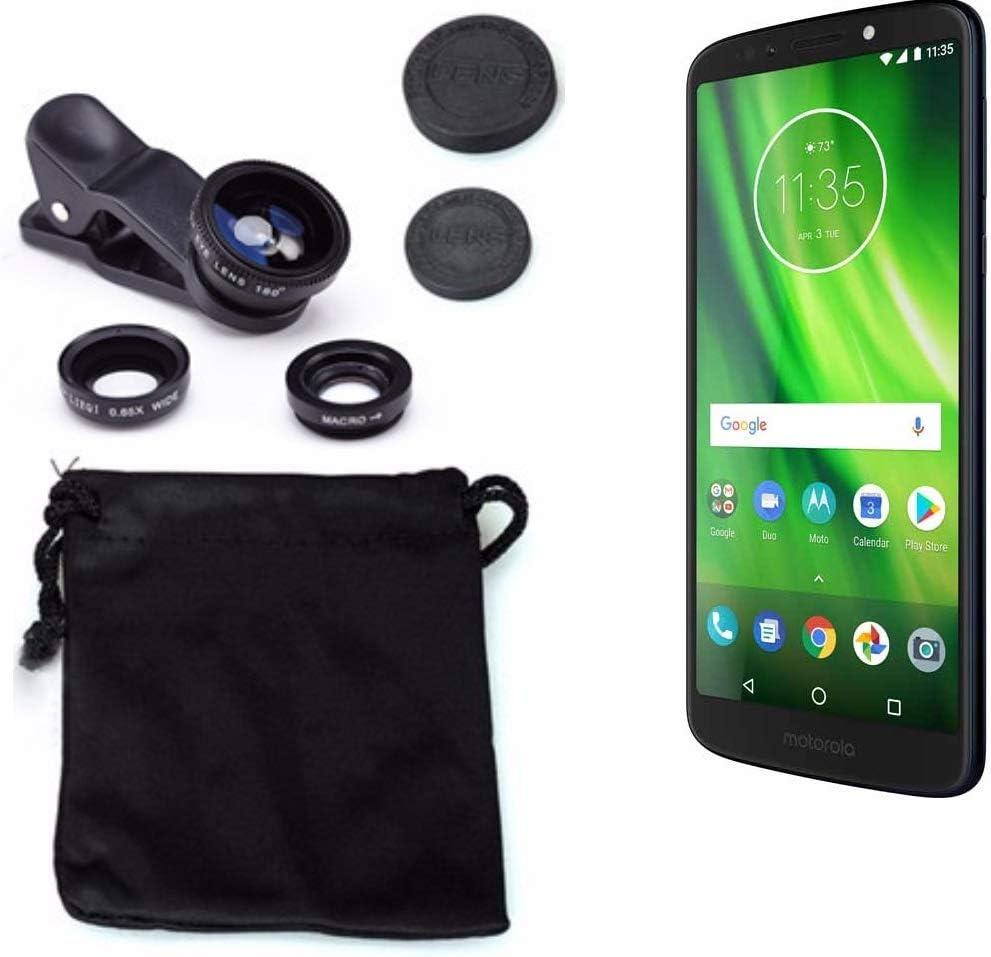 K-S-Trade 3in1 Compatible con Motorola Moto G6 Play Obiettivo ...