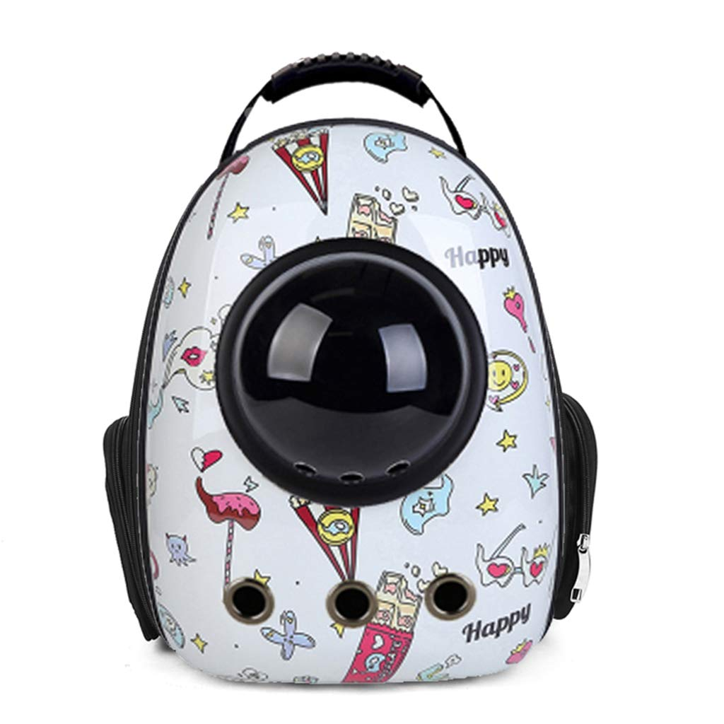 G Welhome Pet Carrier,Cat Dog Puppy Travel Hiking Camping Pet Carrier Backpack, Space Capsule Bubble Pet Bag,Waterproof Soft-Sided Handbag Backpack for Cat and Small Dogs,G