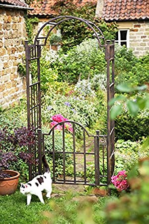 Heavy Duty Mackintosh Garden Arch with Gate Amazoncouk Garden