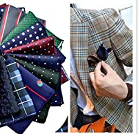 LACS Men's Silky Pocket Square 23*23cm Hankies Pack