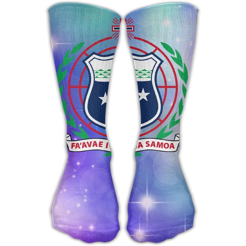Design Coat Of Arms Of Samoa Stylish Art Knee High Socks For Women &Girl