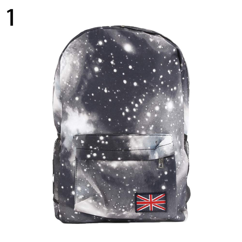 319931f36bd2 Amazon.com: WillowswayW Unisex Galaxy Space Canvas Backpack Travel ...