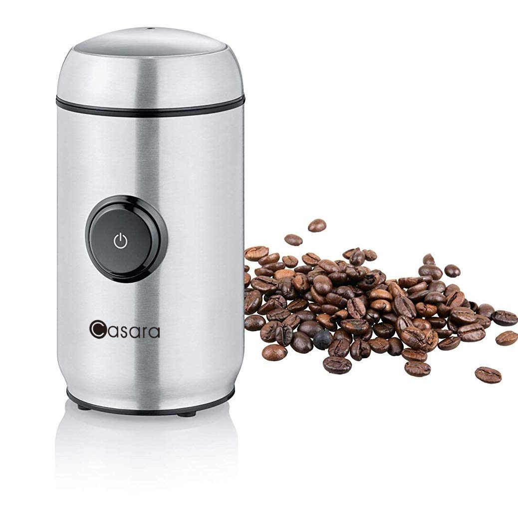 Casara Coffee Grinder - Electric Coffee grinder with Stainless Steel Blades, Blade Coffee Grinder with Powerful Motor for Coffee Beans, Spices, Nuts, Grains, One touch operation Electric Spice Grinder by Casara